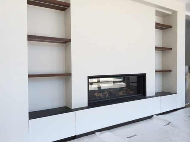 cr ation d 39 une chemin e traversante vandoeuvres art feu. Black Bedroom Furniture Sets. Home Design Ideas