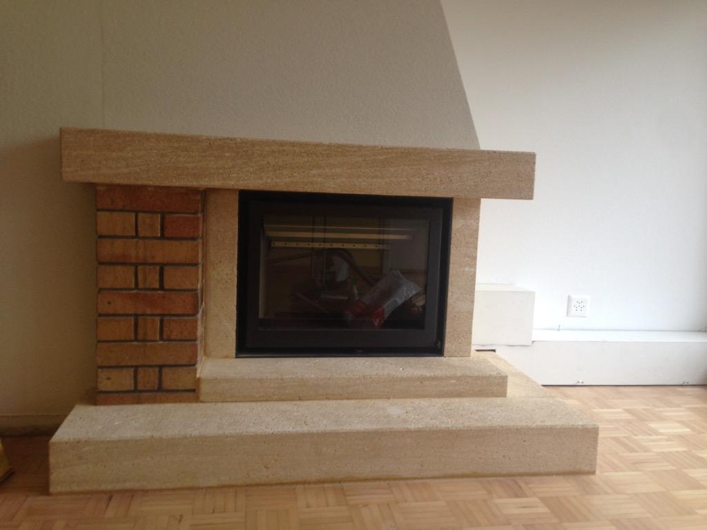 Transformation d'une cheminée foyer ouvert à pully   art & feu