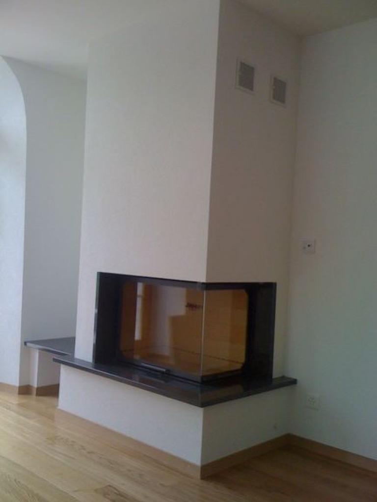 petite chemin e avec vitre lat rale milavy art feu. Black Bedroom Furniture Sets. Home Design Ideas