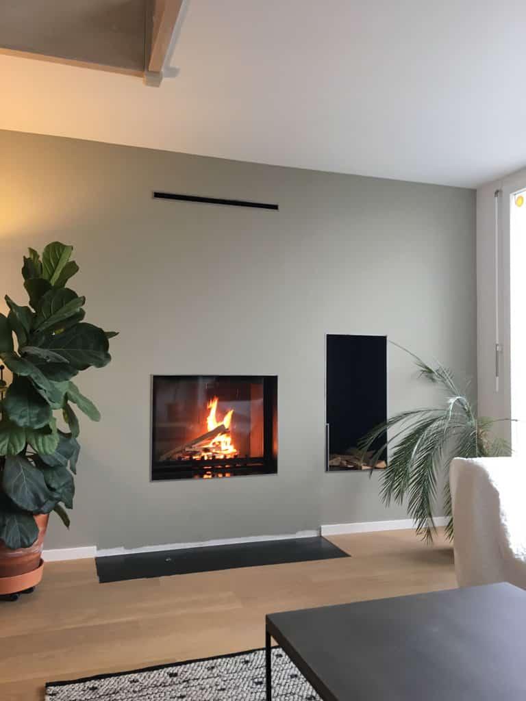 Transformation d'une cheminée en foyer ouvert à arzier   art & feu