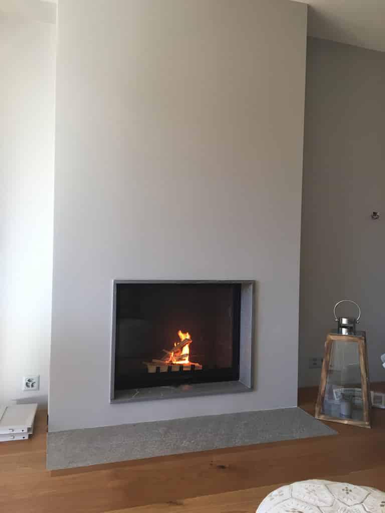 Contemporaine archives art feu - Transformer une cheminee rustique en contemporaine ...