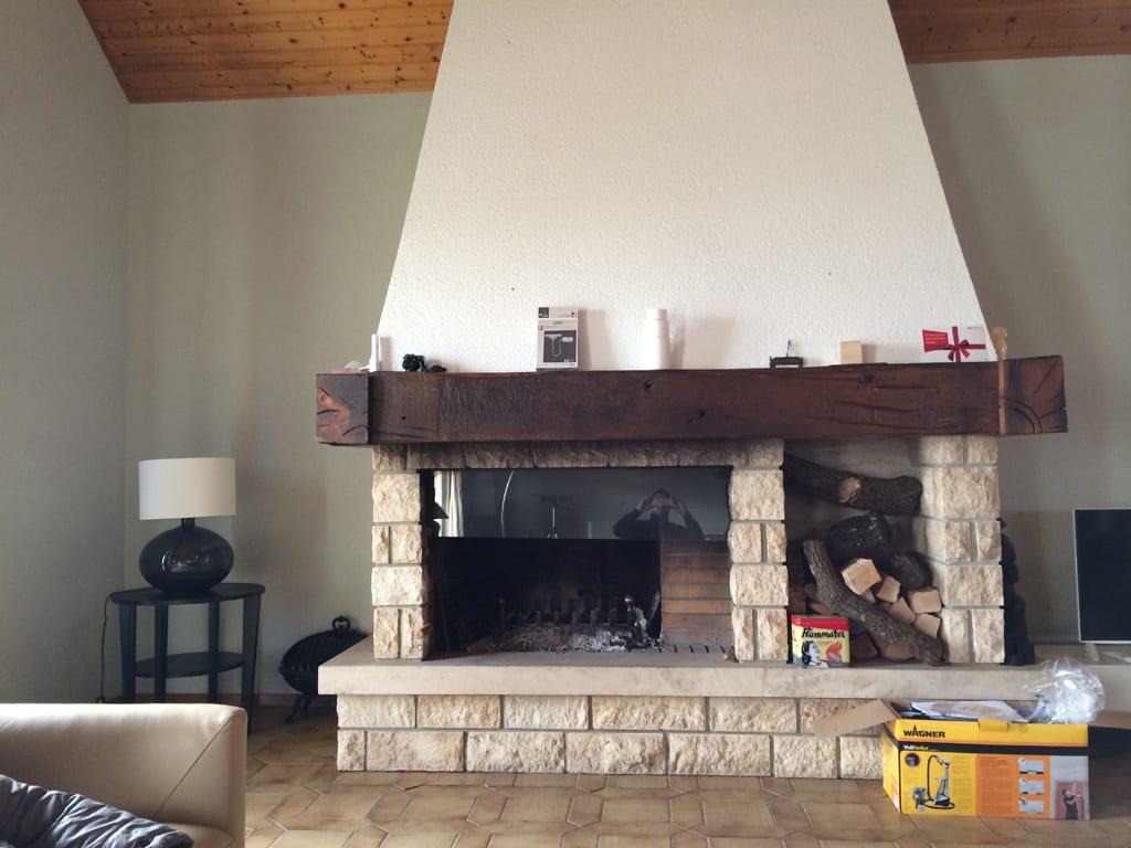 transformer une cheminee rustique en contemporaine - maison design